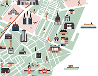 Copenhagen map illustration