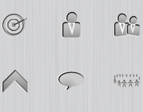 Steel icon pack set