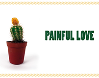 Painful love, cactus packaging
