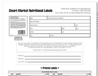 Smart Market Nutritional Labels Design