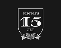 15th years anniversary Gazeta.Ru. Special project.