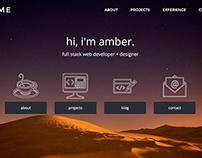 Portfolio Website (www.ambertunnell.com)