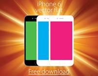 iPhone 6 vector flat