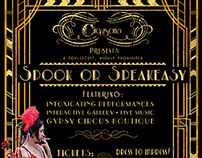 Cirqusoria's Spook or Speakeasy Flyer