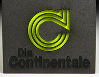 Die Continentale neon business card