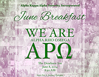 Alpha Kappa Alpha, Alpha Rho Omega's June Breakfast