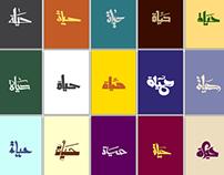 20 Hayat Typography