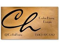 Copper Metallic Business Card Template