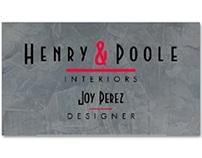 Slate Interior Design Company Business Cards