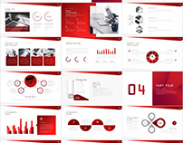 Red Report PowerPoint template