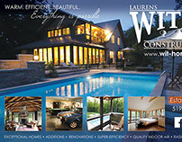 Our Homes Magazine ads for Laurens Wit Construction