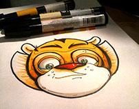 Practica de plumones/Practicing with markers