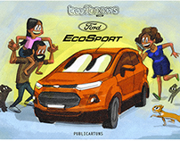 Publicartuns: Twitoons Ford EcoSport