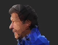 Imran Khan - Polygon Poster