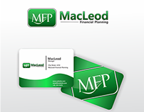 Logo and Business Card for Macleod financial planning