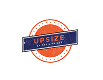 Upsize Shirts & Prints Branding - Design Studies