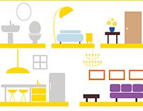 Aviva Listen to your home illustrations