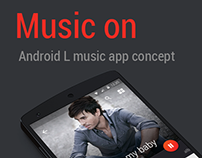 Music on Android L music app concept