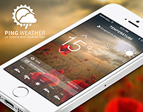 Ping weather ISO app UI design ( Free download )