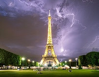 Lightning Storm in Paris