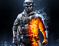 Battlefield 3 Key Art & Logo Design