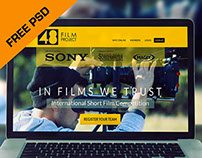 FREE PSD : Film Project Re-design