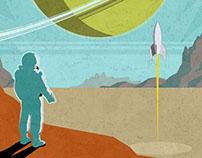 Retro SciFi Illustrations