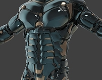 Sci-Fi Armor - 3DStudy of hard surface