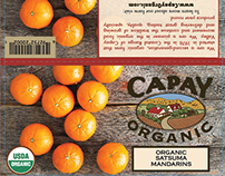 CAPAY Organic 3lb. Orange Bag Label