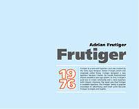 Frutiger Poster Design