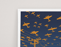 flocking plane prints