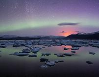 Jokulsarlon Aurora - Iceland