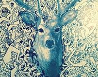 Streetart Deer