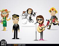 Free Vectors: Cartoon Characters