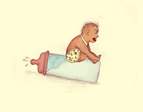 Ilustracion editorial / Bebe Extremo