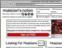 Music Community Network Concept