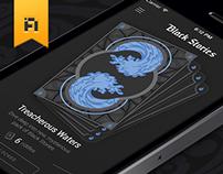 Black Stories - app & game design.