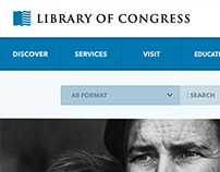 Library of Congress Website [UI Re-design]