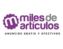 milesdearticulos.com // Logo design, Graphic Design