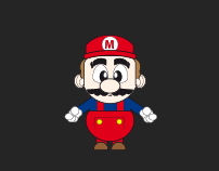 Super Mario Illustrator Design