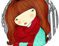 [MY GIRL]: Red muffler
