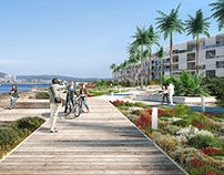 New waterfront in Ibiza