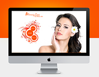 beauty care web design