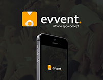 Evvent iPhone app concept (free PSD)