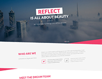 Reflect - Single Page Design with different layout