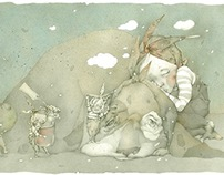 """""""Little rabbit without a ticket"""" Illustrations"""