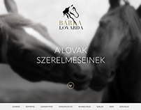 Bárka Lovarda webdesign concept