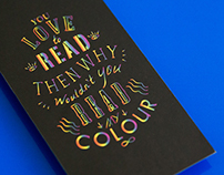 you love to read then why wouldn't you read my color