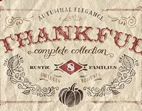 Thankful Complete Font Super-Family