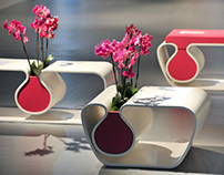 Flower pot+ table